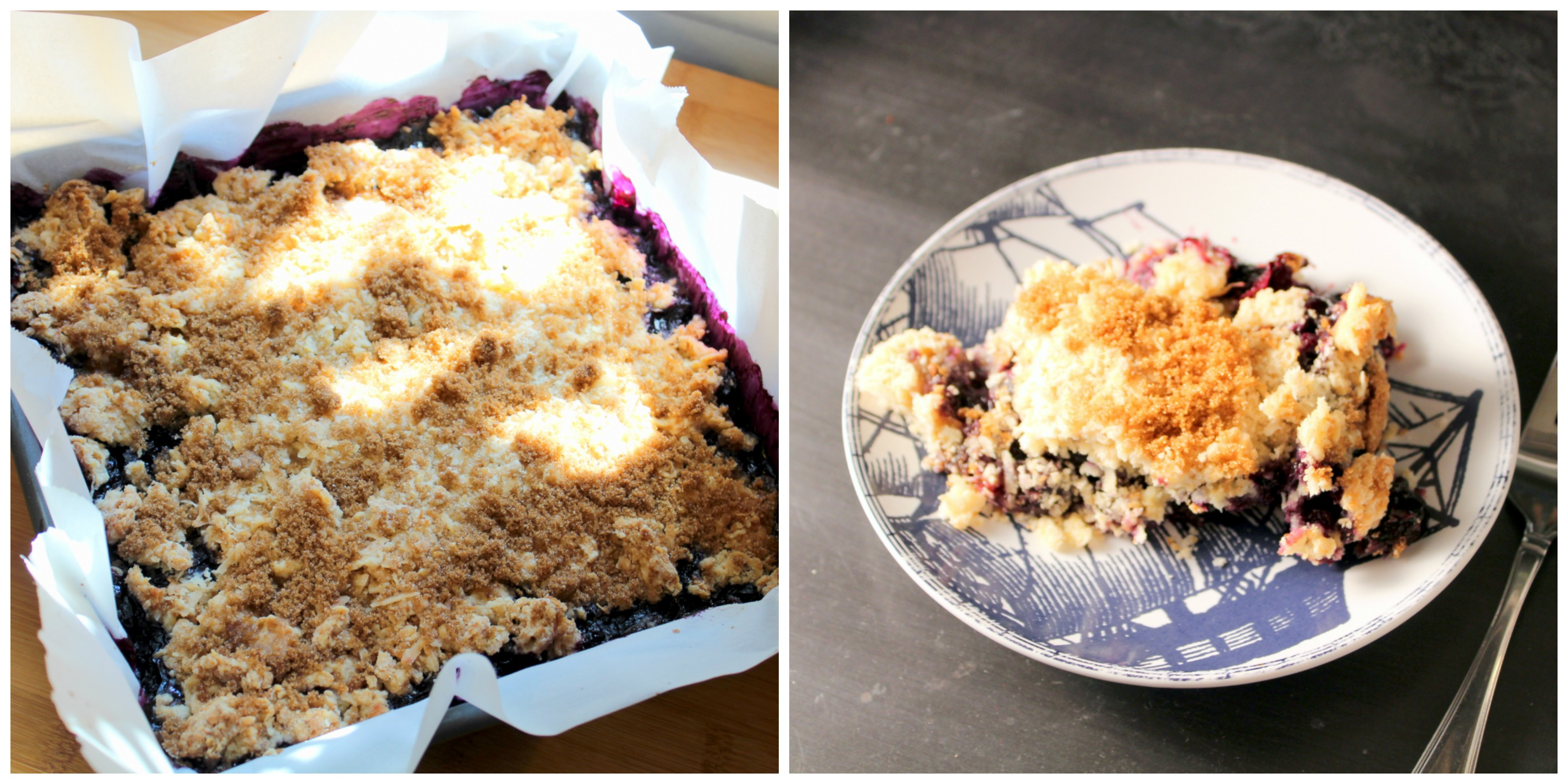 Coconut Blueberry Cobbler